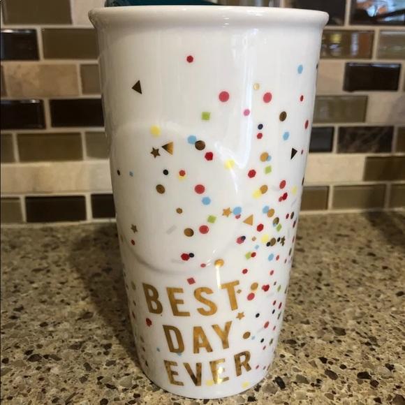 Starbucks BEST DAY EVER ceramic travel cup